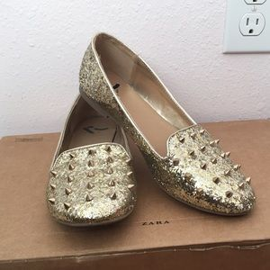 Sparkling Studded Loafers