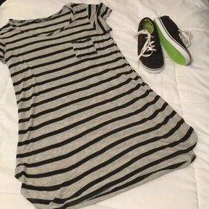 Pinc Premium Dresses & Skirts - Grey & black pocket tee dress