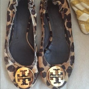 Calf Hair Leopard Ballet Flats Size 75