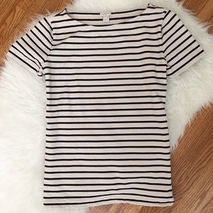 J. Crew Thick Knit Short Sleeve Dressy Tee Shirt