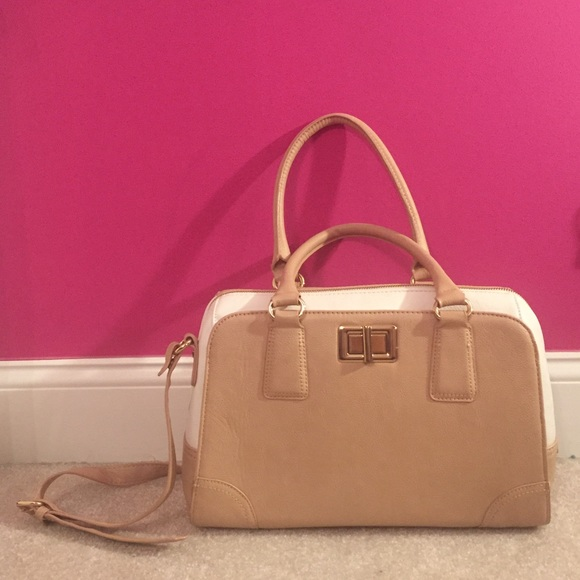 Aldo Handbags - Aldo Beige White Purse with short and long straps fb858972c9c71