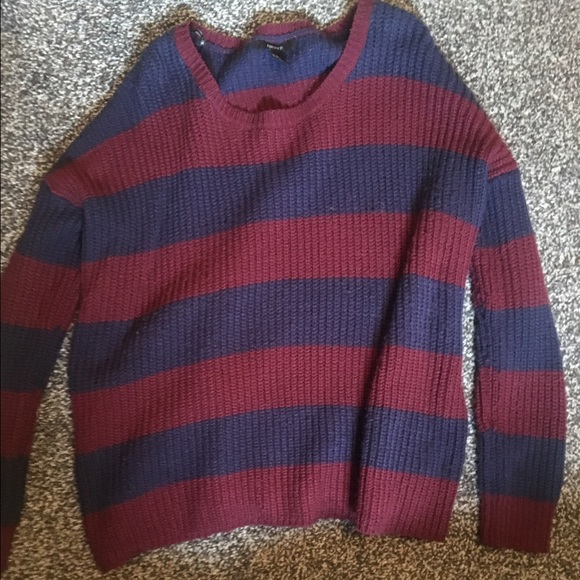50% off Forever 21 Sweaters - Forever 21 navy blue/burgundy ...