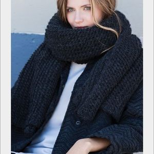 Emerson Fry Accessories - Emerson Fry Big Knit Scarf in Iron
