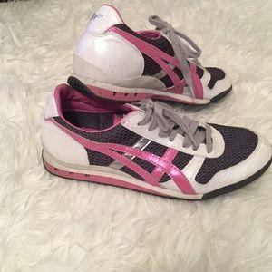 Onitsuka Tiger by Asics Shoes - Onitska Tigers 8 pink silver grey white sneakers
