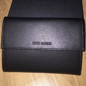 NWT Brooks Brothers Leather Wallet Black