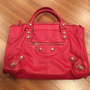 Balenciaga Giant City Work Bag Red