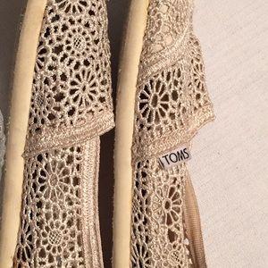 Toms Natural Moroccan crochet classic flat