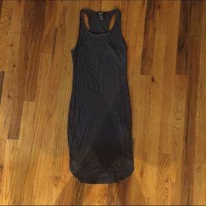 Gray Ribbed Midi Dress Small (w U-cut on the end)
