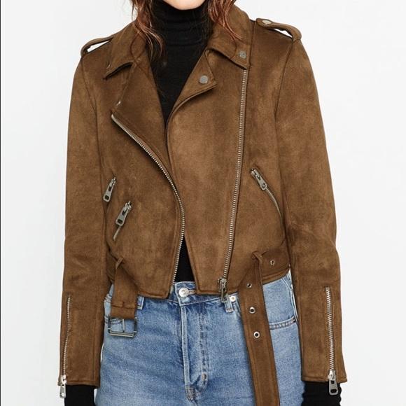 Zara Jackets Amp Coats Basic Faux Suede Jacket Poshmark