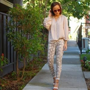 Like NEW H&M reptile print skinny pants