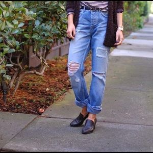 Like NEW UO destroy high waisted relax jeans