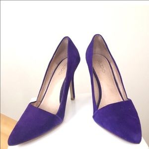 Aldo purple suede pumps