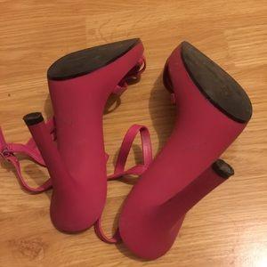 Aldo Shoes - Aldo pink platform strappy heel sandal
