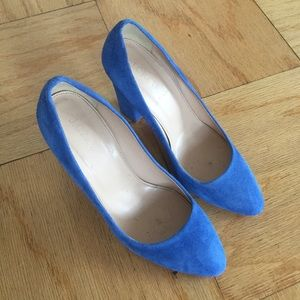 J. Crew Shoes - J.Crew Blue Suede heels