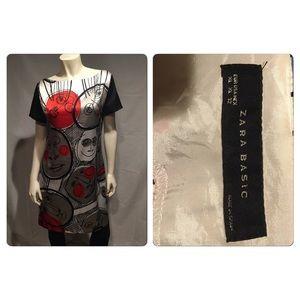 Rare Zara Picasso'esque shift dress