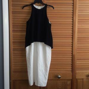 Asos Dresses & Skirts - Black and white midi Asos dress | Size: 4-6
