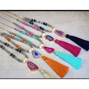 Function & Fringe Jewelry - ⏳⏳F&F AGATE, GEMSTONE REAL PEARLS SALE
