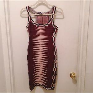 Herve Leger Karlie Jacquard Runway Dress