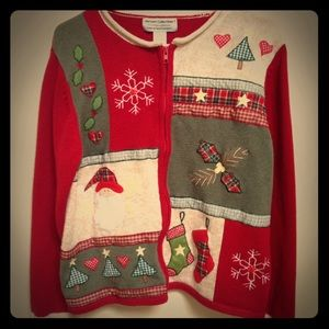 Heirloom Collectibles Sweaters - Heirloom Collectibles Christmas Collection Sz L