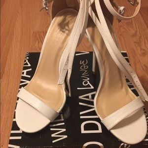 Lulu's Shoes - White ankle strap heels