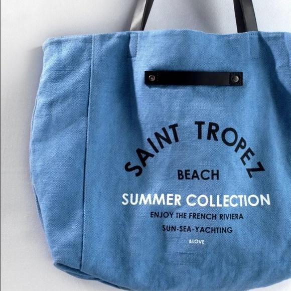 38% off Zara Handbags - BNWT ZARA SAINT-TROPEZ Shopper Beach Bag ...