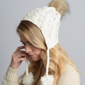 Accessories - Knit Pom Ear Flap Beanie