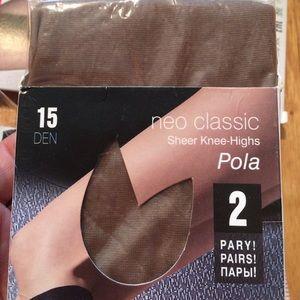 """Fiore """"polo bezepalcowe"""" 2 pros knee high stocking"""