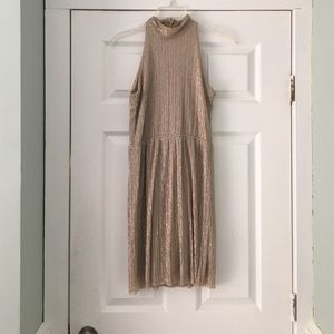 NWT ASOS Mock Neck Shimmer Dress