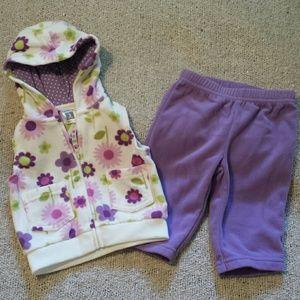 Carter's Other - ☆Host Pick☆ Carter's Fleece Vest/Pants Set, 3 mos
