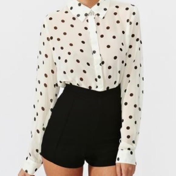 48% off Nasty Gal Pants - Black High Waisted Formal Shorts from ...