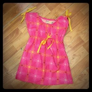 Hippo Hula Other - Hippo Hula Pink Orange Simple Dress 12-18 mo
