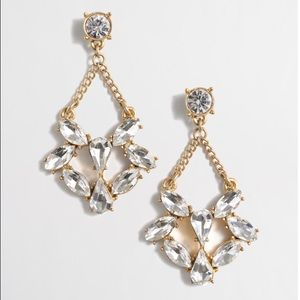J. Crew Crystal dangle earrings