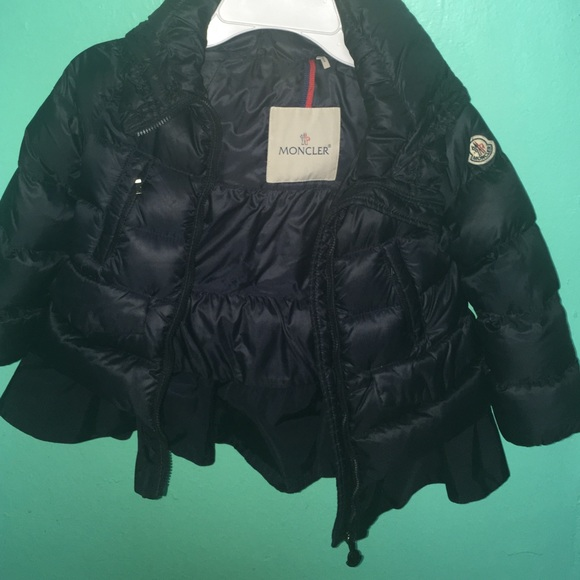 Girls moncler 18/24 months navy blue coat