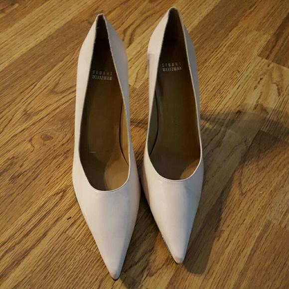 72% off Stuart Weitzman Shoes - Stuart Weitzman nude heels size 11 ...
