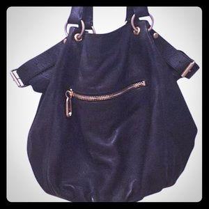 Linea Pelle Handbags - Linea Pelle black leather hobo bag