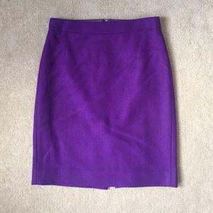 J. Crew Purple Pencil Skirt 00