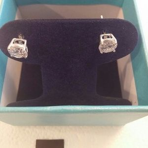 Sterling Silver CZ pierced earrings brand new