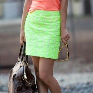 J. Crew Dresses & Skirts - J. Crew Embroidered Neon Mini Skirt