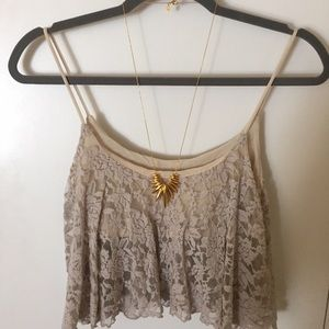 Elan Tops - Elan lace crop top