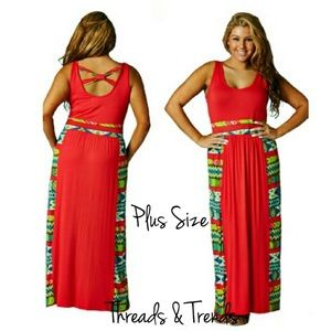 Threads & Trends Dresses & Skirts - PLUS SIZE! Coral Maxi Dress