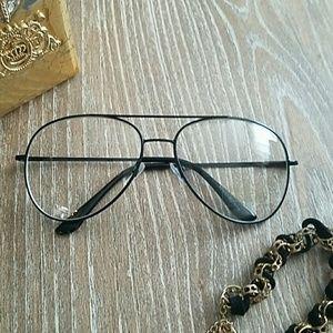 Accessories - Brand new! Clear sunglasses w/ black rim