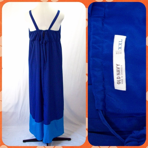 Old navy color block maxi dress