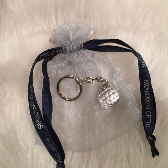 Swarovski optik clear crystal ball keychain NEW! M 57acd20136d594522400a607 5d28cada3