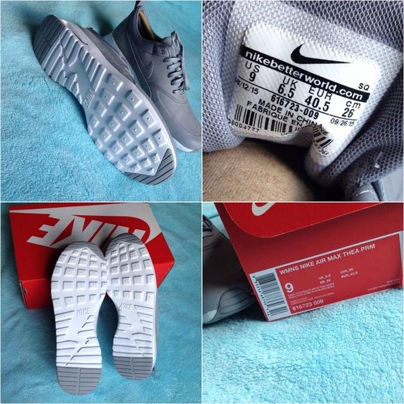 Nike Air Max Thea Cheveux Blanc Platine Furtivité Premium B00xNJ4