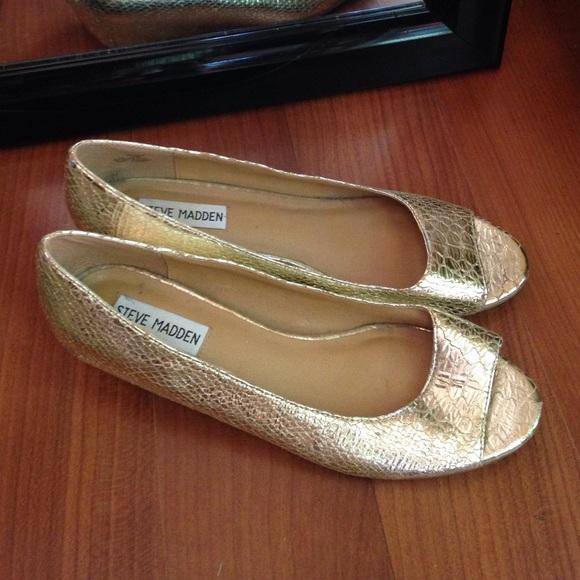 Steve Madden Shoes   Metallic Peep Toe