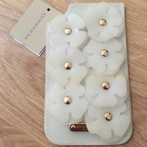 ‼️SOLD‼️ Burberry Prorsum White iPhone Sleeve Leat