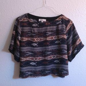 Altar'd State Tops - Tribal Crop Tee