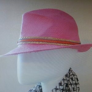 Pink straw fedora, made in Italy, from Nordstrom