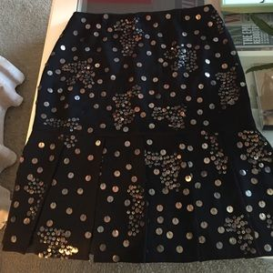 Kay Unger Dresses & Skirts - Kay Unger silk sequin skirt with kick pleats