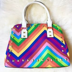 Steve Madden Handbags - Steve Madden Rainbow Multi-Color Studded Purse